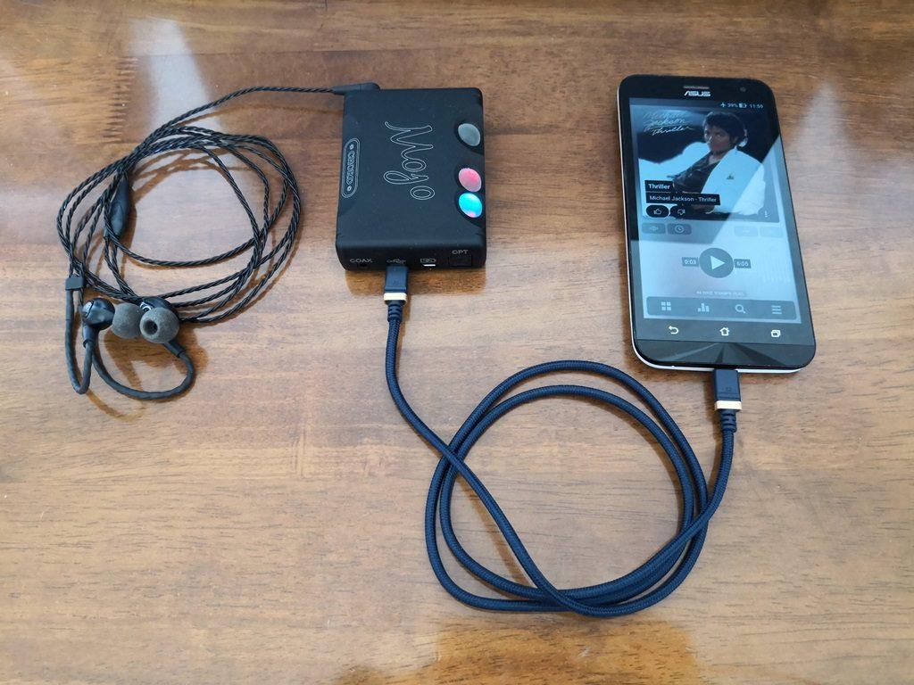 AndroidとUSB-DACを接続する