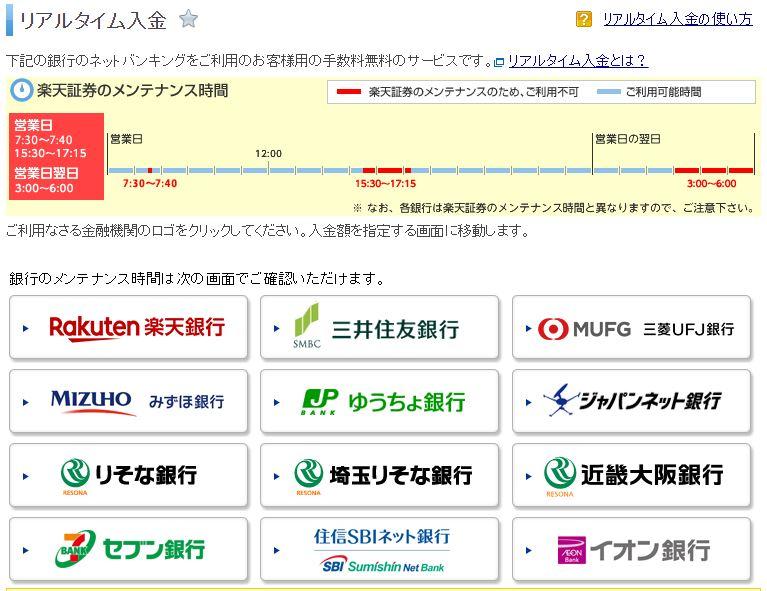 楽天証券 円貨買付可能額 入金