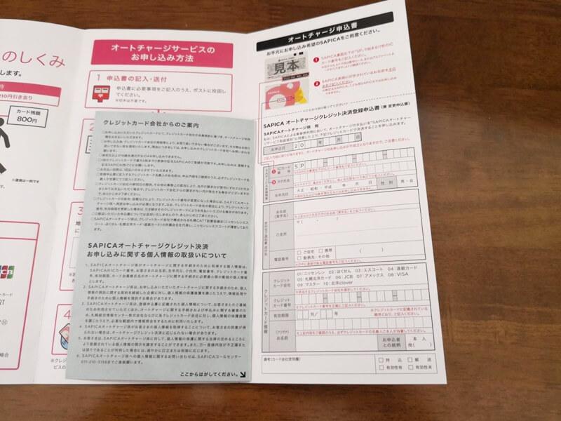 申込書の記入欄