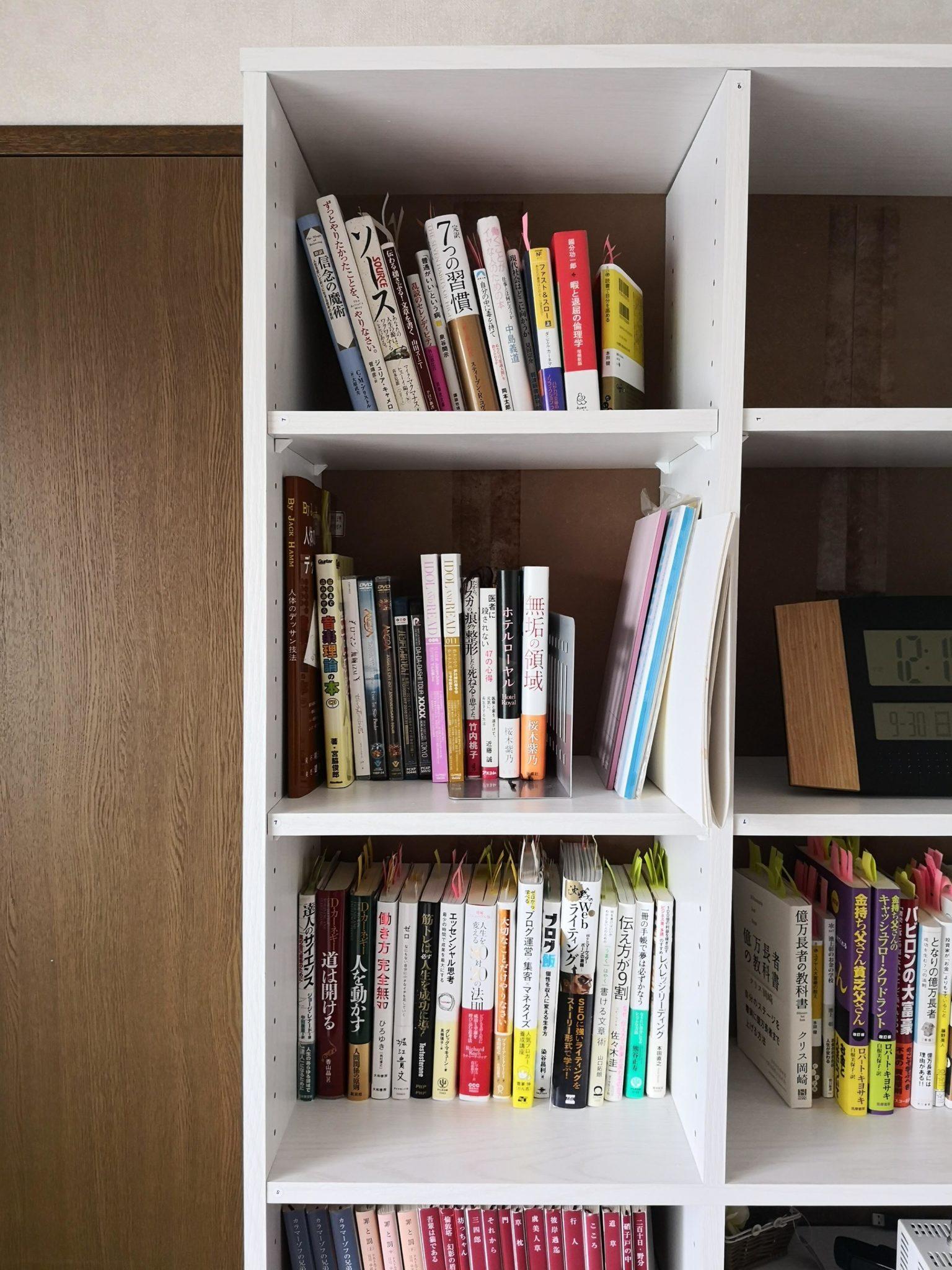 ニトリの本棚サラ 棚板を追加していない部分
