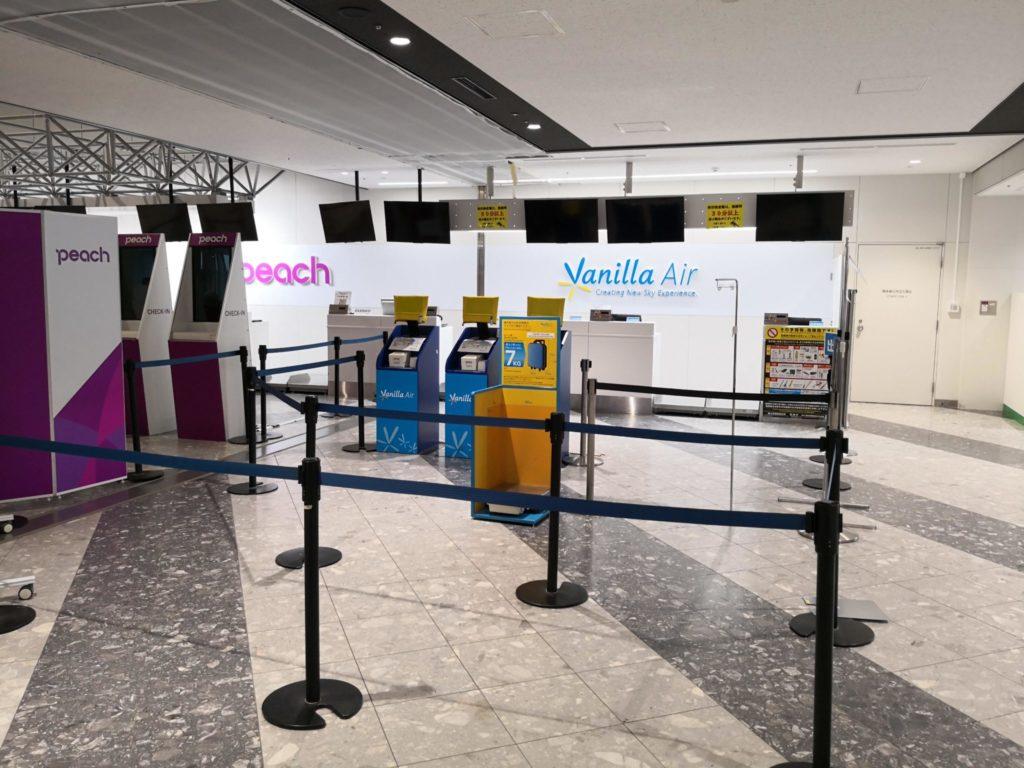 新千歳空港バニラエアチェックインカウンター
