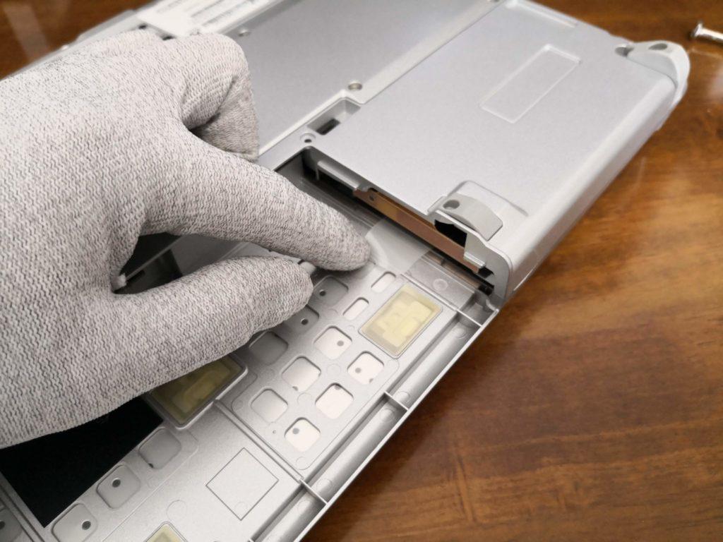 レッツノートのHDDについているシール