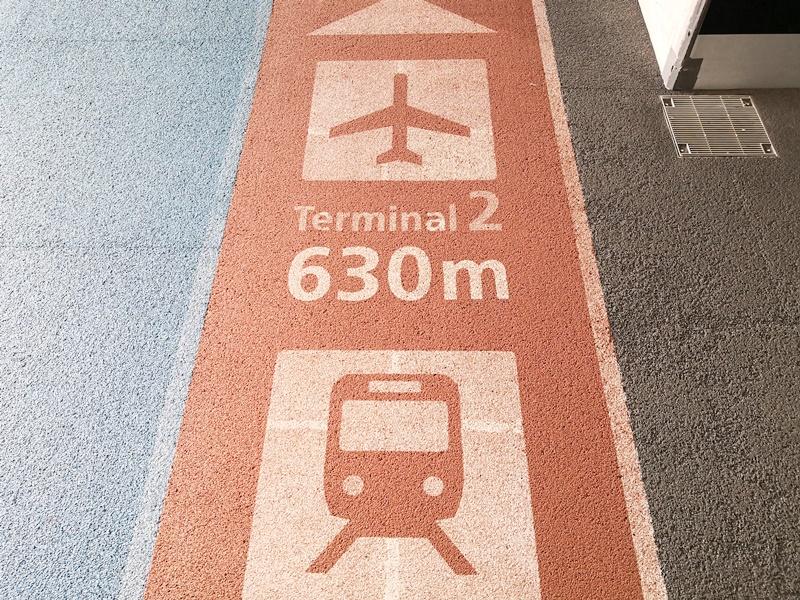 第2・第3ターミナルの歩道