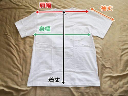Tシャツの寸法
