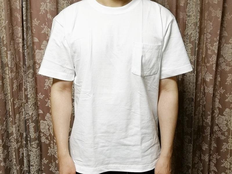Tシャツを着た様子
