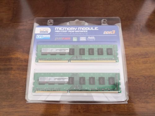 CFDのメモリ8GB×2