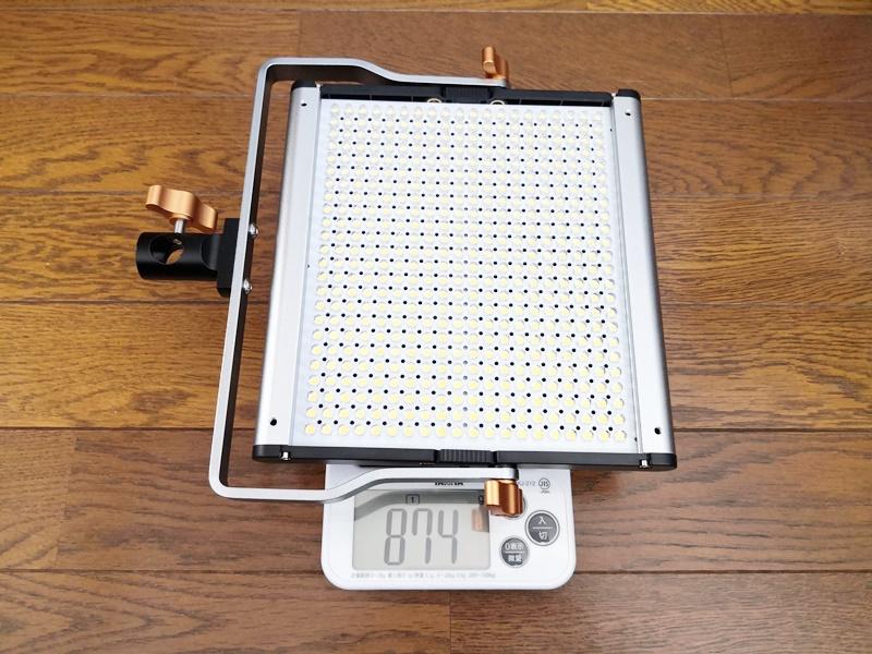 ライト本体の重さ