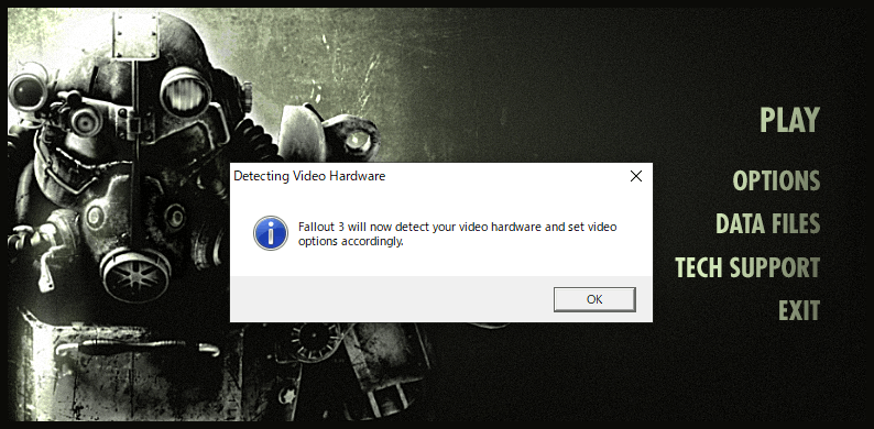 Fallout3の起動